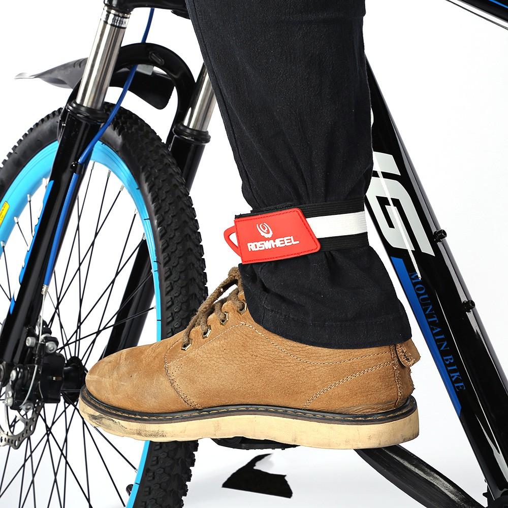 2pcs bike reflective ankle leg tape band cycling trousers pant clips strap Nice