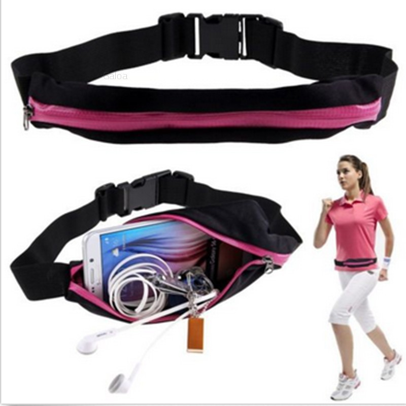 Vawal Waist Bag Outdoor for Running Bumbag with Adjustable Waistband 4 Zip Pockets Travel Hiking Fashion Cycling Sport Bag Pack for Men Women
