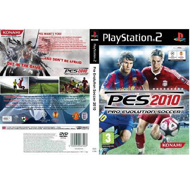 PS2 Game Pro Evolution Soccer 2010 , PES 2010 (Copy Disc)
