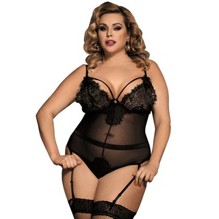 sophisticated technologies exceptional range of colors Good Prices Plus Size Underwear Sets Large Size Sexy One-piece Sling Nightdress Garter  Pajamas Suspender Lingerie Plump Lady 80266