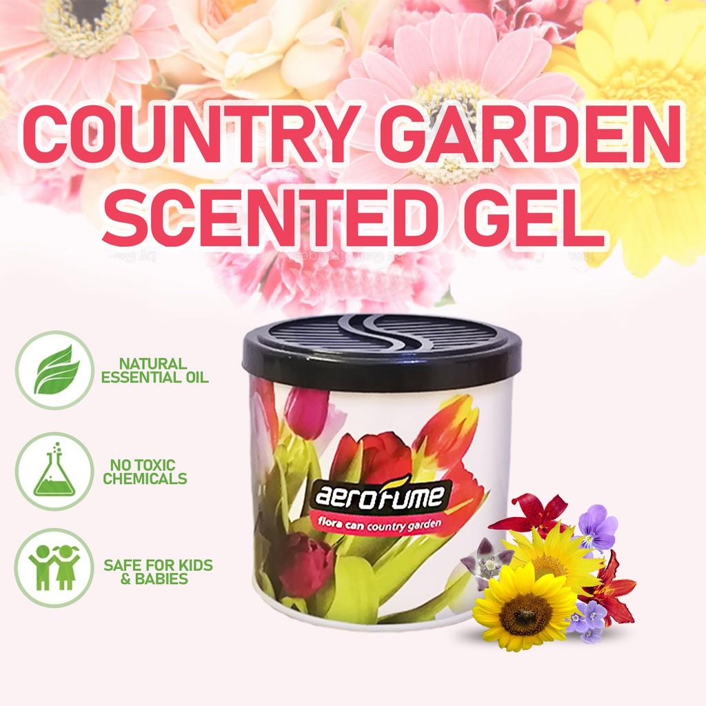 Aerofume Natural Scent Flora Scented Gel (Country Garden) 70g Car Perfume Air Freshener Room Fragrance Pewangi Kereta
