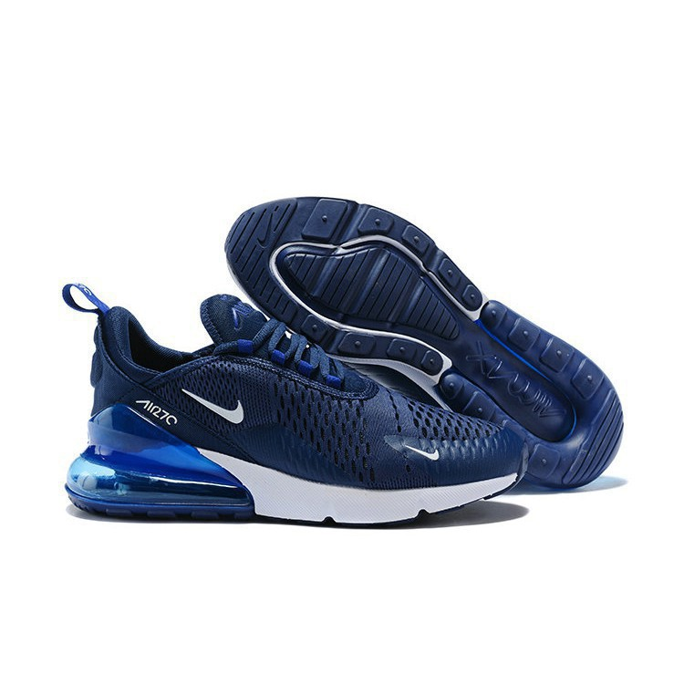 best service 6cba3 cf94f Nike Air Max 270 White Navy Blue