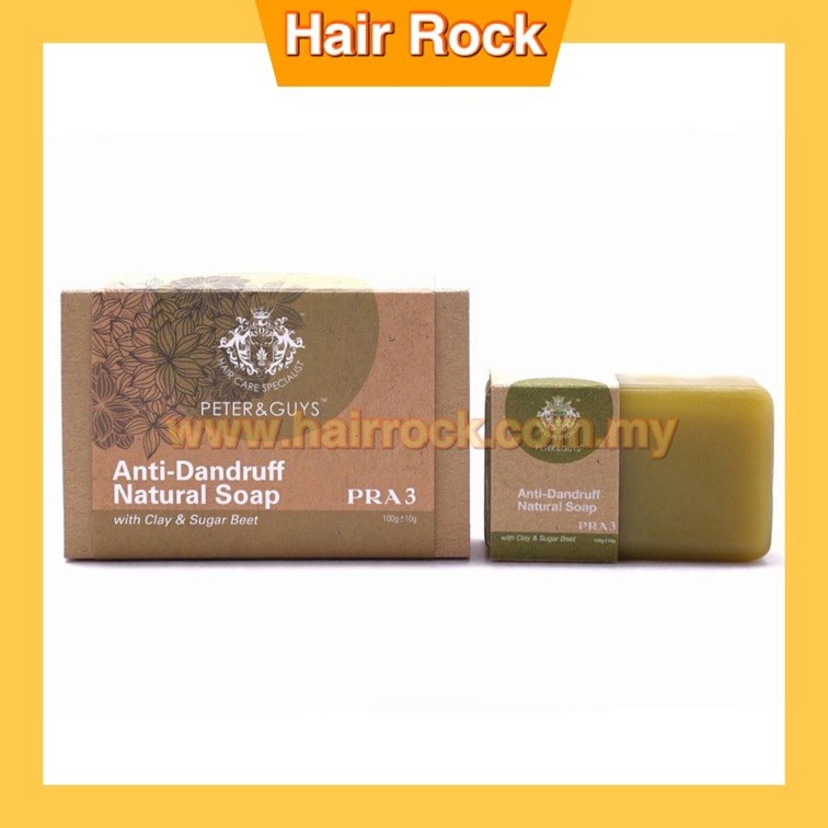 Peter & Guys Anti-Dandruff Natural Soap with Clay & Sugar Beet (PRA 3) 100gm