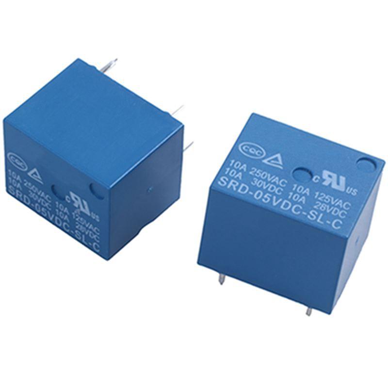 1Pcs SRD-05VDC-SL-C DC 5V Rating Coil SPDT Miniature Power Relay Blue