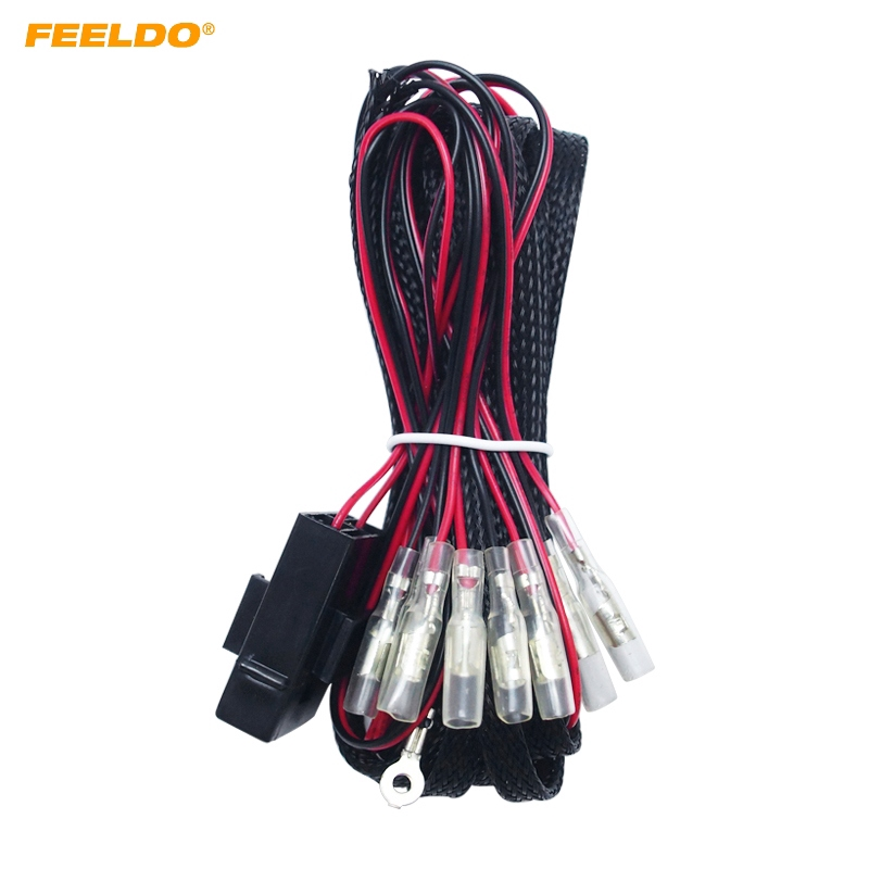 Relay Wiring Harness Kit 4 Connector CCFL LED Angel Eyes Light Fade on