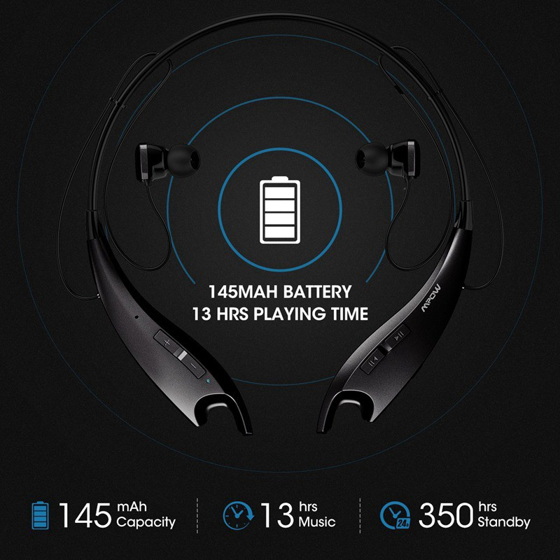621d9ad87af Mpow Upgrade Jaws Gen-4 Bluetooth Headphones Wireless Headset V4.1, w/Call