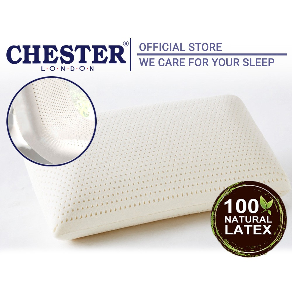 Chester London 100% Pure Latex Pillow - 1pc