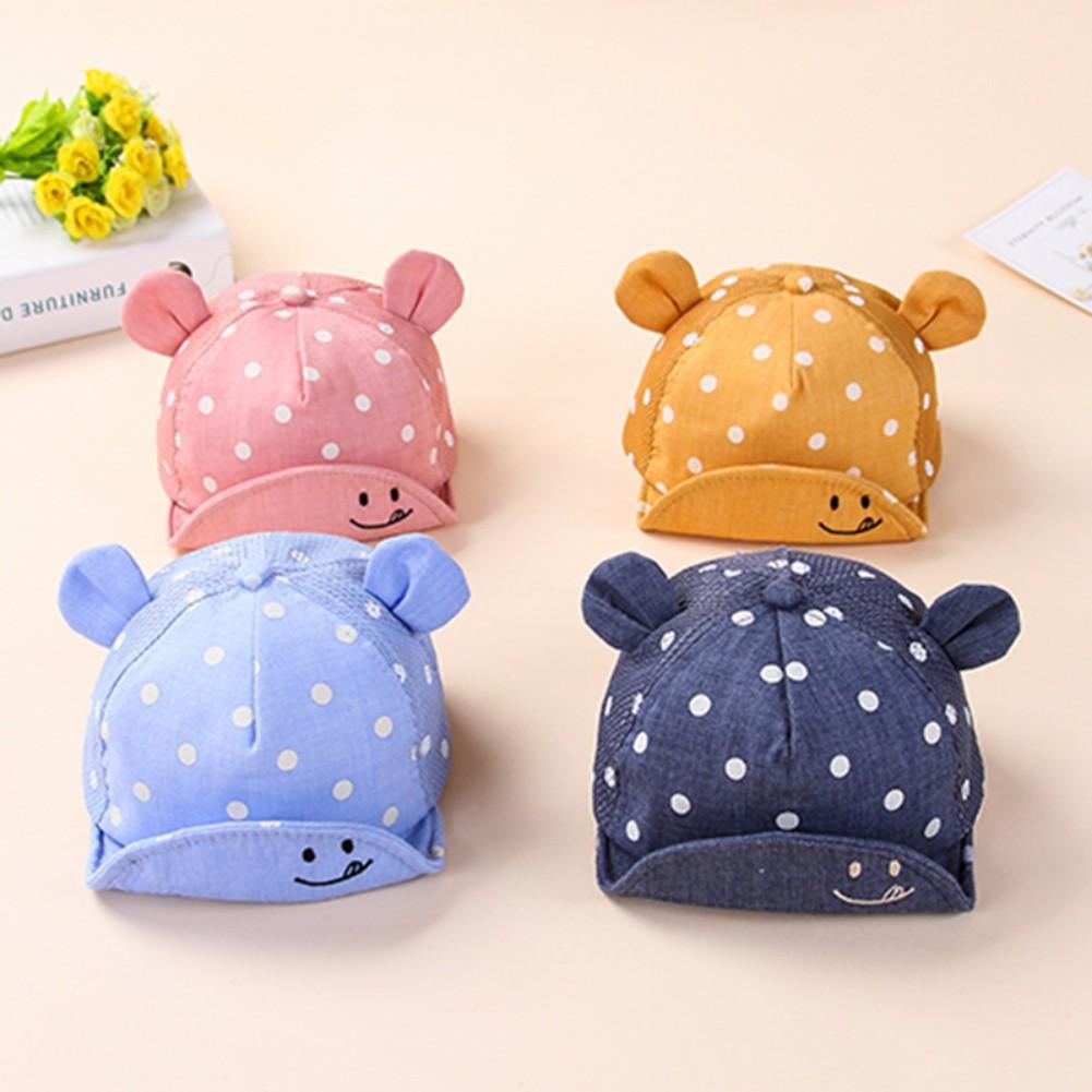 e52be5070bd3ee ProductImage. Toddler Baby boys girls Cap Polka Dot Cotton Hat Ear ...