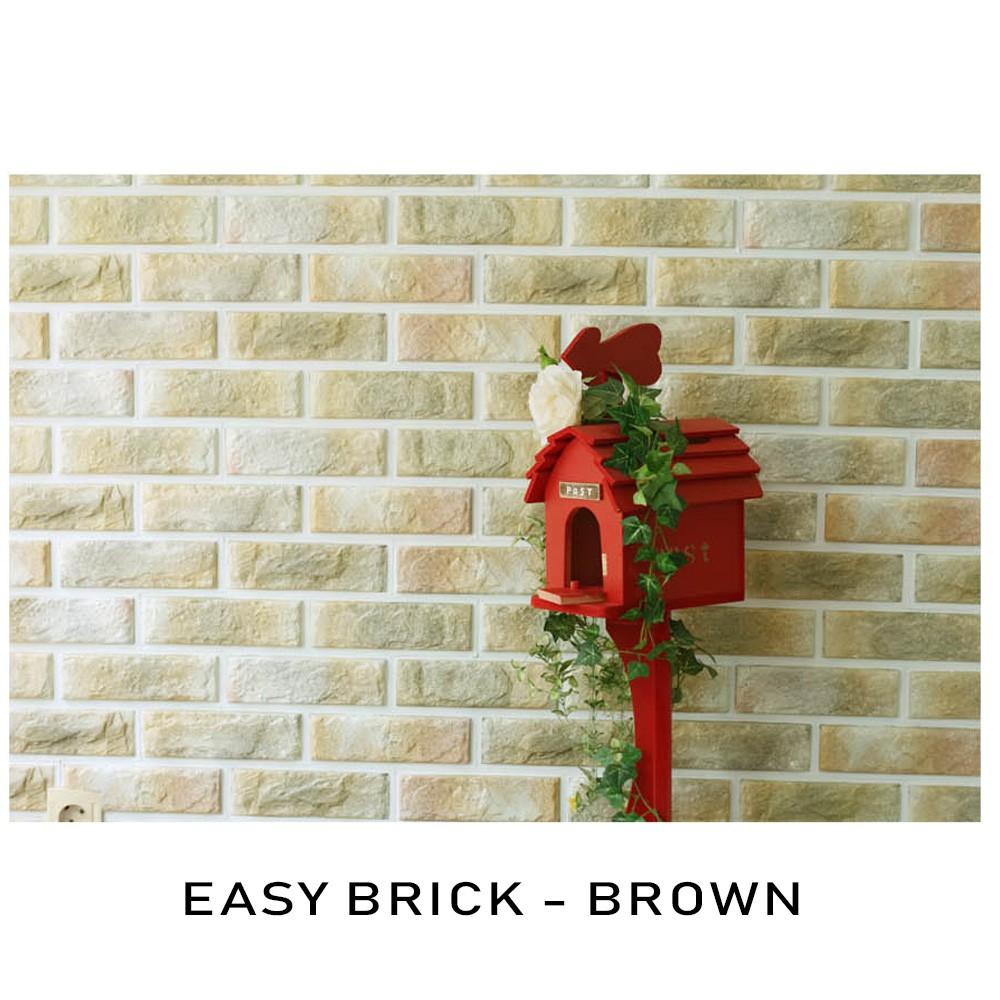 3D Easy Brick Block Special PVC Material DIY Home Decoration Wallpaper 3D PVC Blok Bata Hiasan Dinding Rumah Murah