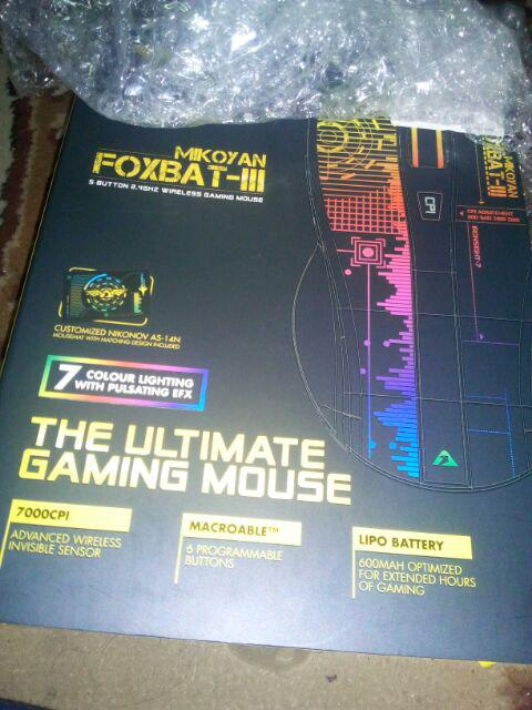 ARMAGGEDDON MIKOYAN FOXBAT III IRONSIGHT 7 2 4GHZ WIRELESS GAMING MOUSE 6  BUTTON