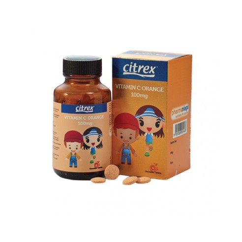 Citrex Vitamin C 100mg Chewable Orange 30tablets