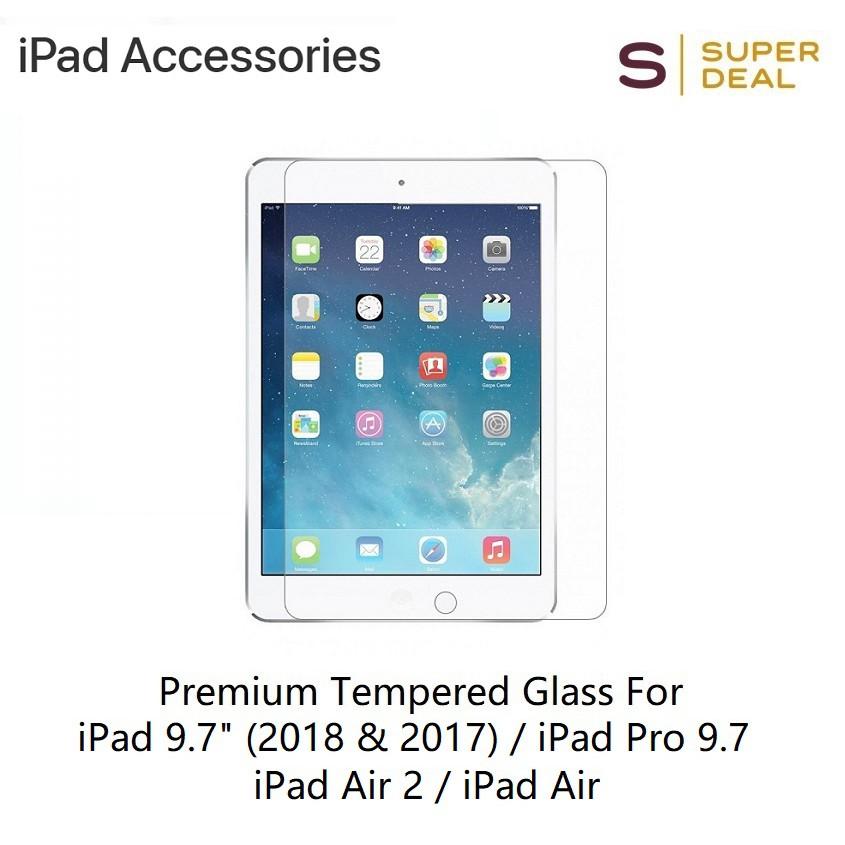 "Premium Tempered Glass For iPad 9.7"""