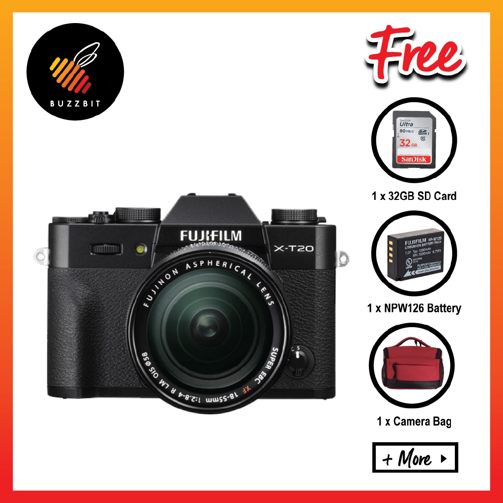 Fujifilm X-T20 XT20 18-55mm Lens Mirrorless Camera + 32GB + Battery