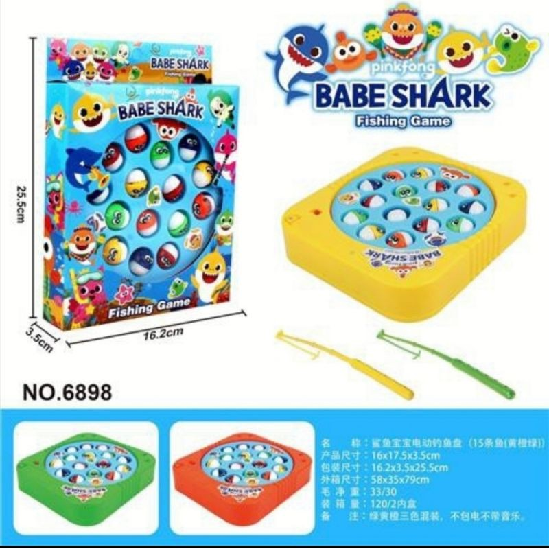 Fishing Game Toy Shark Non-Magnetic Fishing Game for Kids