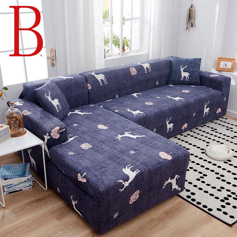 Warm Home Printed Sofa Cover Elastic For Living Room Slipcovers