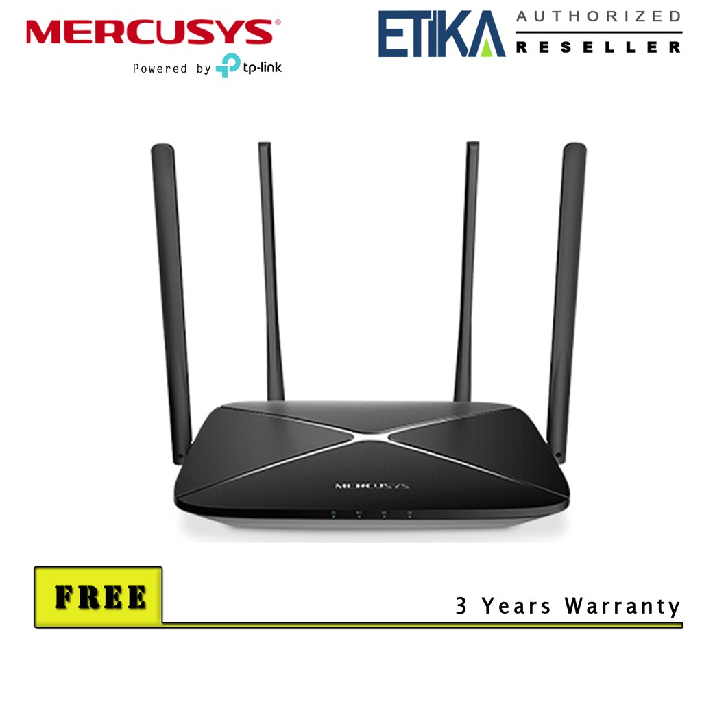 Mercusys AC12G AC1200 Dual Band Wireless Gigabit Router (Powered by TP-Link)