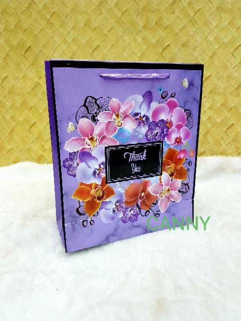 🎁🎀 100pcs Beg Doorgift Orkid Size L / Paper Bag Doorgift Size L 100pcs 🎁🎀