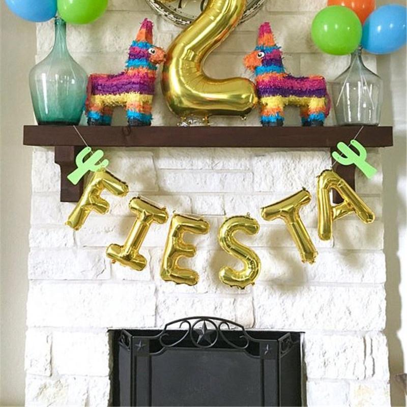 Baby Shower Letter Balloons.Foil Letter Balloons Taco Night Fiesta Party Decor Baby