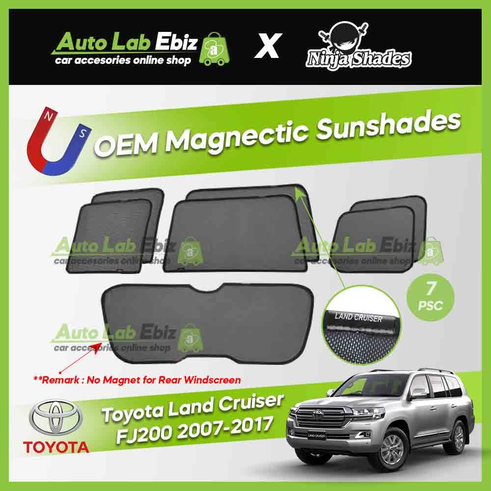 Toyota Land Cruiser FJ200 2007-2017 Ninja Shades OEM Magnetic Sunshade (7pcs)