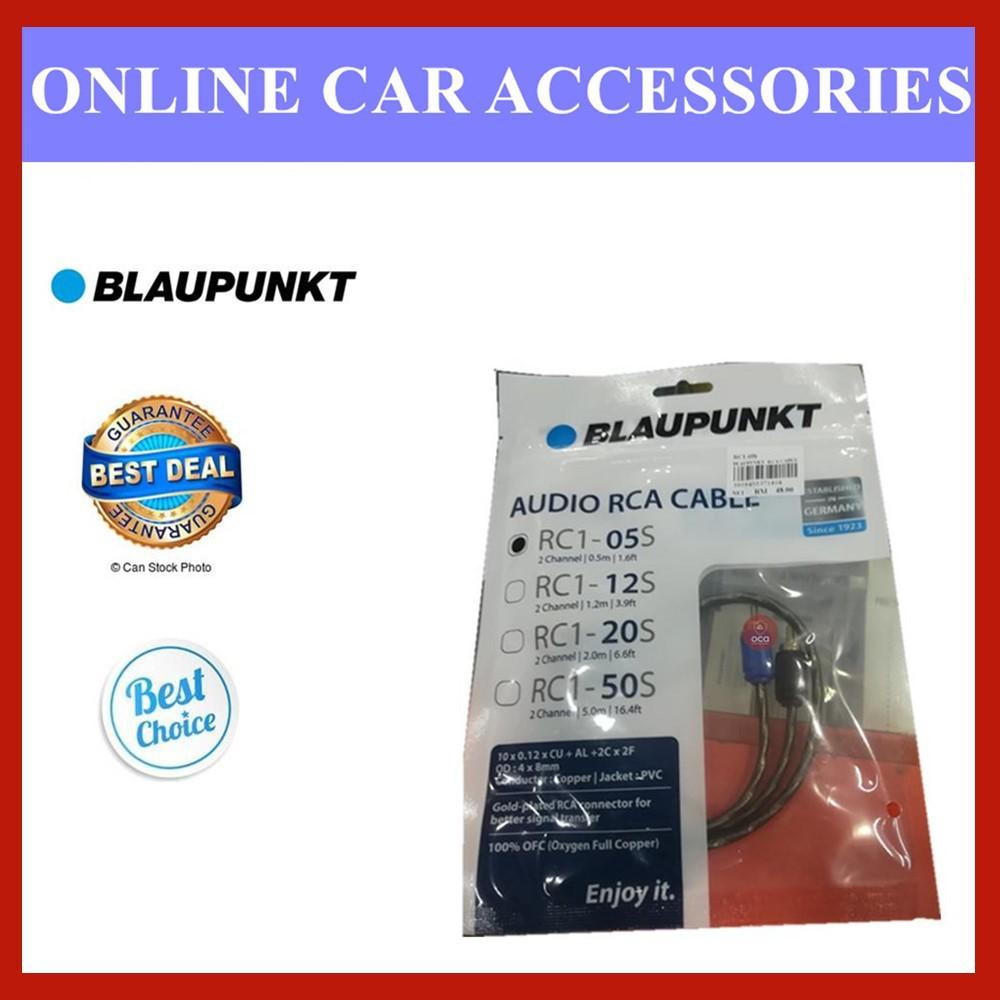 BLAUPUNKT AUDIO RCA CABLE Oxygen Full Copper (RC1-20S) (RC1-05S) (RC1-12S) (RC1-50S)