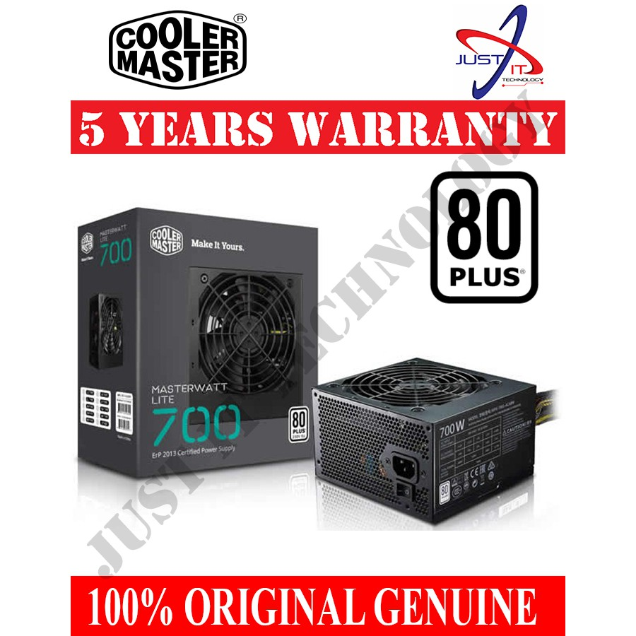 Official Cooler Master Masterwatt Lite 700w 80 Plus Power Supply Imperion 500 Watt Atx 4pin Shopee Malaysia