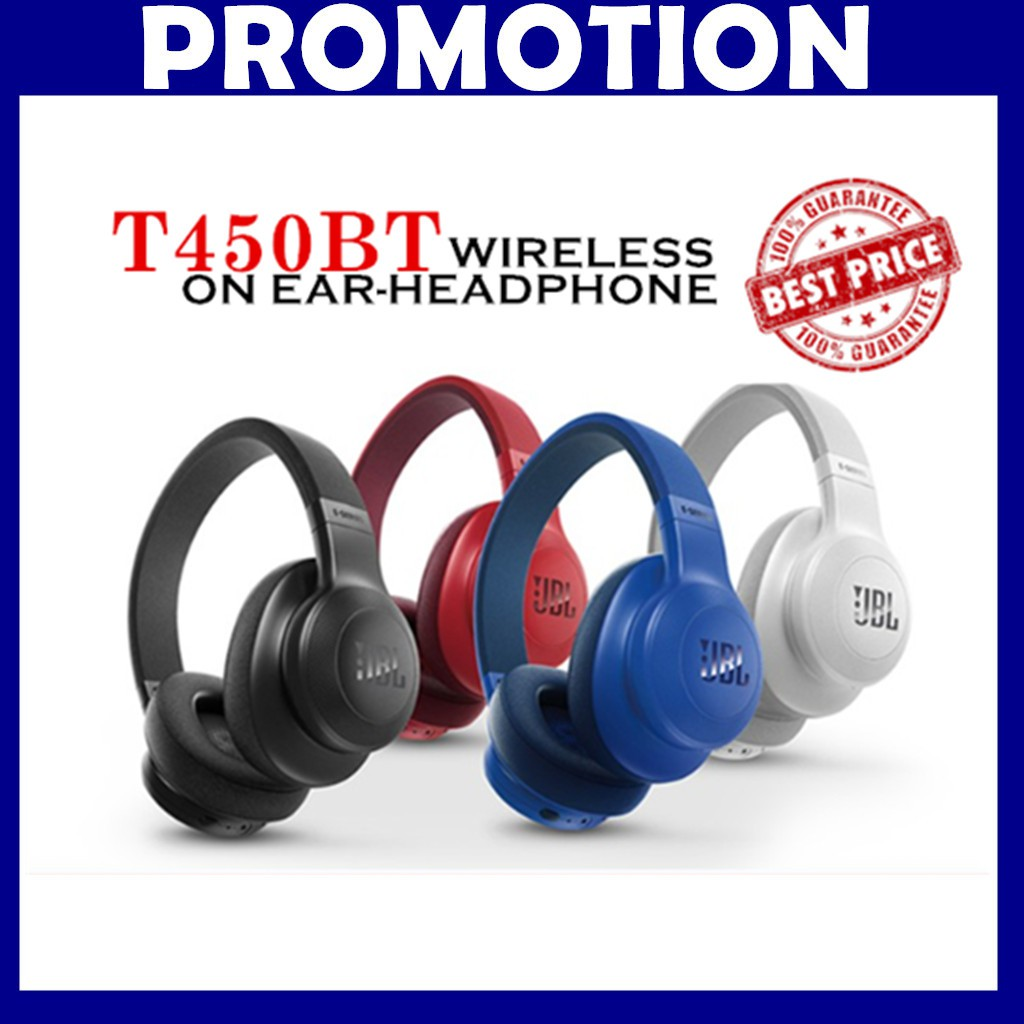 JBL T450BT On-Ear Wireless Headphones Bluetooth Hi-Fi Headset OEM