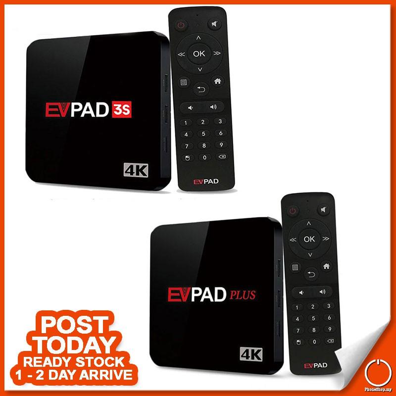 [ READY STOCK ] EVPAD Plus 32GB 3S 8GB IPTV Bluetooth Adroid TV Box