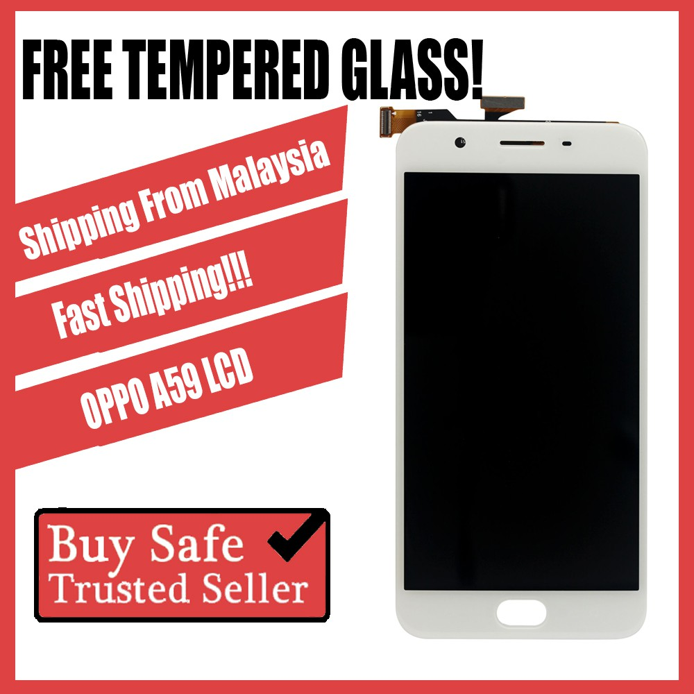 LCD Screen Digitizer Oppo A37, F1S/A59 Sparepart Replacement FREE Tempered  Glass
