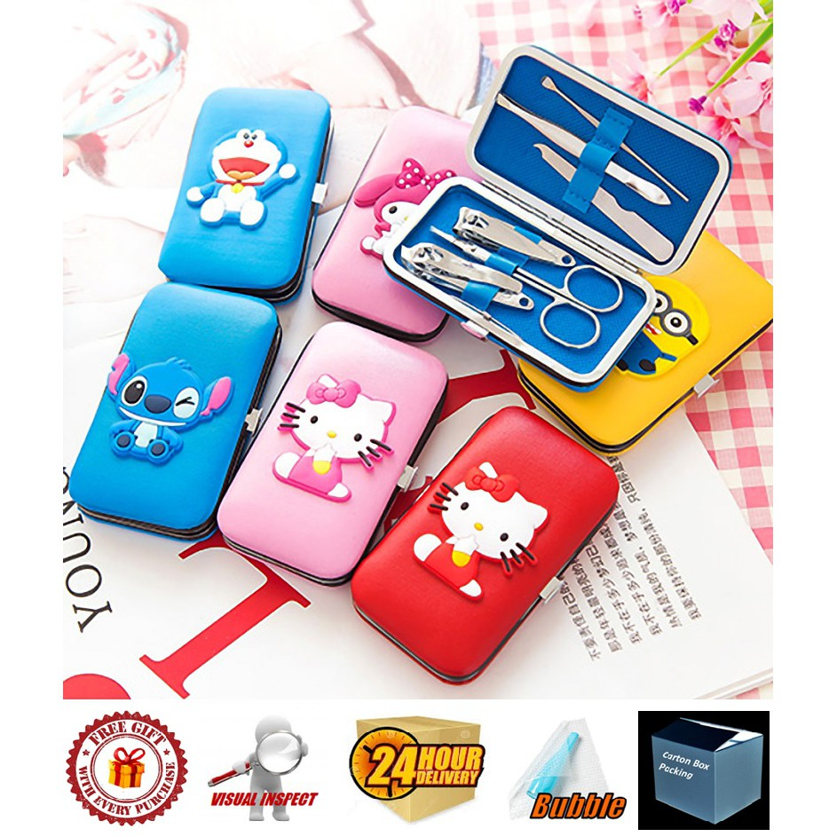 Pedicure Manicure Nail Tool Set 6 in 1 Hello Kitty/ Stitch/ Totoro Nail Care Set