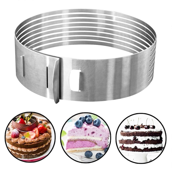 Cake Ring  adjustable Stainless Steel Layer Slicer Cutter Mousse Mould 12 Inchi