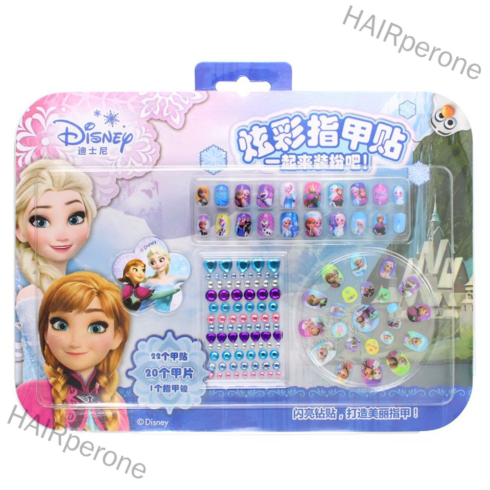 HAIRperone Princess Nail Stickers for Baby Kids Girls Toys Gift Makeup Toy Art Decorations