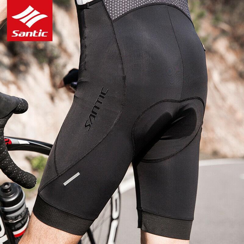 Santic 1//2 Half Summer Man Cycling Bib Shorts Breathable 4D Padded Asian size