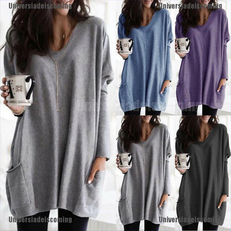 Womens Print Half-Zip V-Neck Sweatshirt Casual Warm Jumper Tops Blouse Pullover