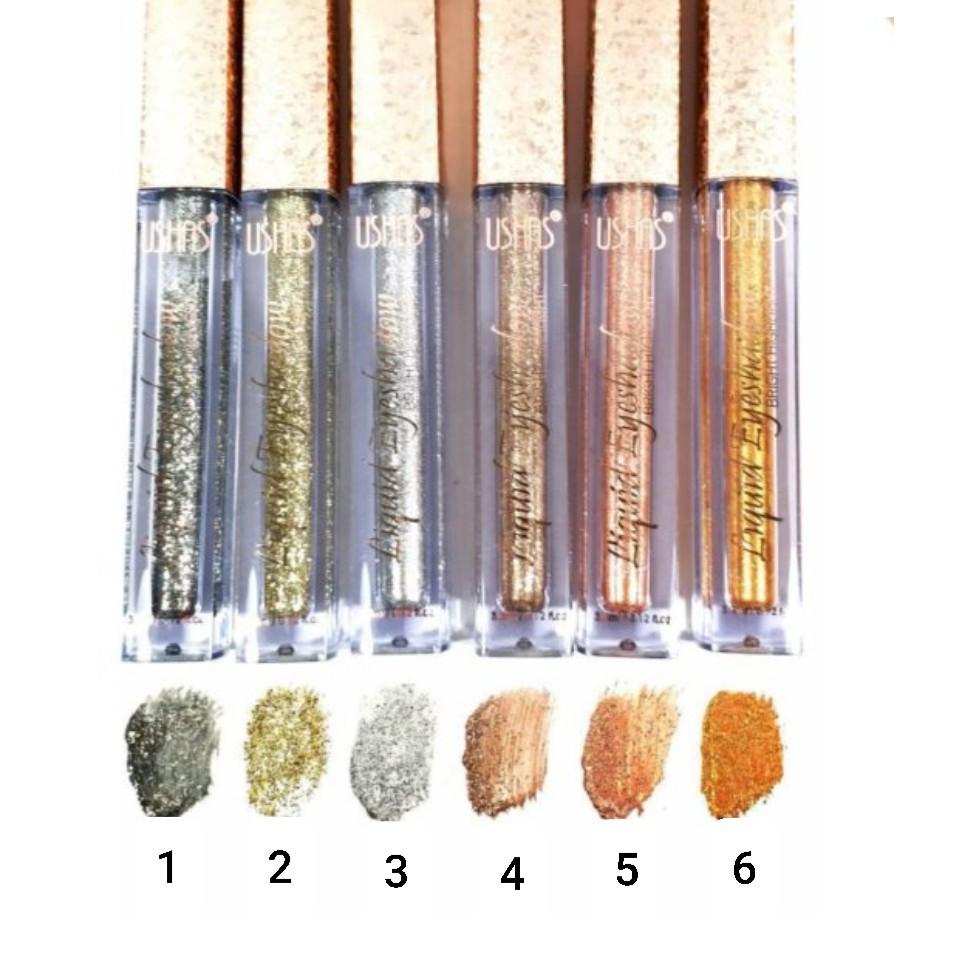 Ushas makeup liquid glitter eyeshadow | Shopee Malaysia
