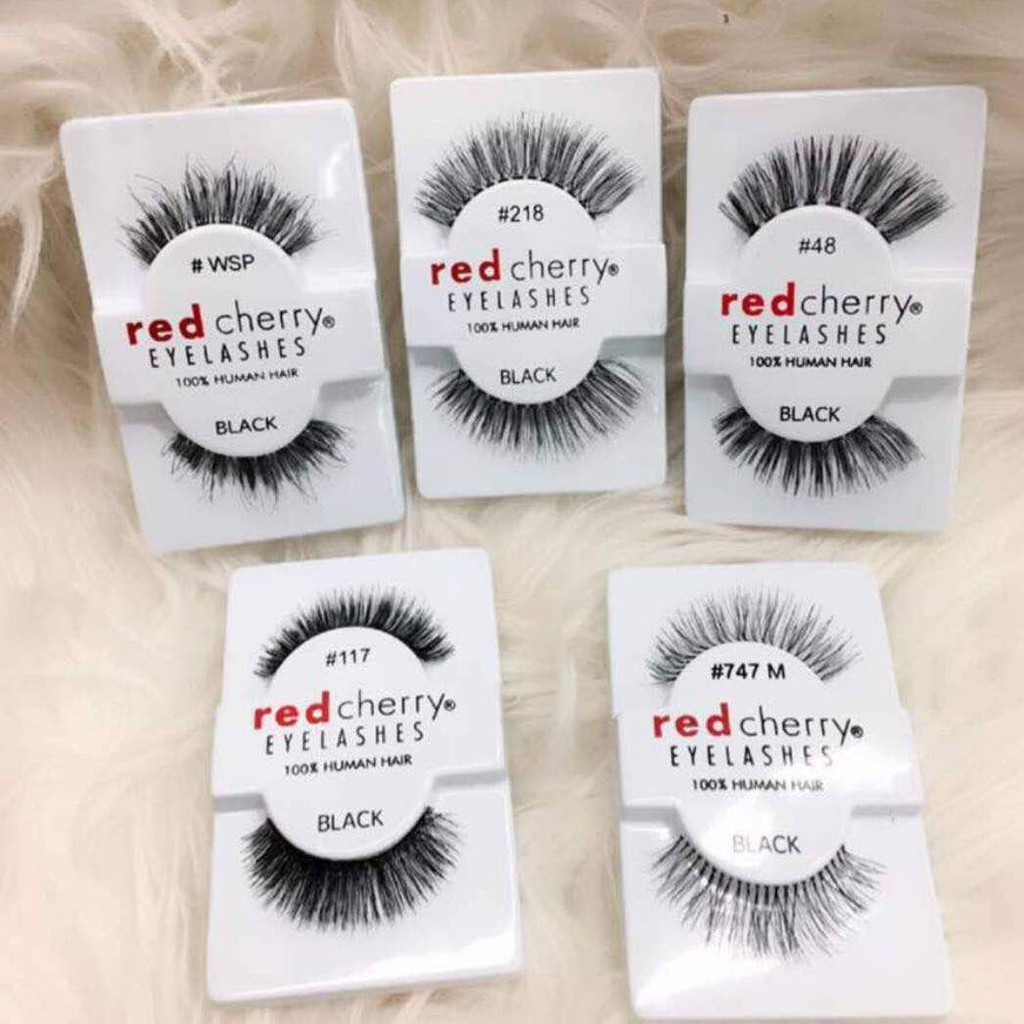 Red Cherry Eyelashes 100 Human Hair Shopee Malaysia