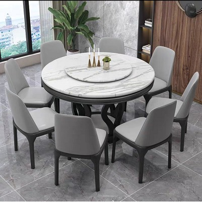 Marble Multi Functional Round Table Living Room Solid Wood Dining Table 6 8 Seater Small And Medium Sized Units Dining Table Shopee Malaysia