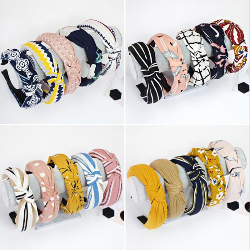 Girls Ladies Womens Headband Top Knot Hair Band Bow Stretchy Hair Accessories