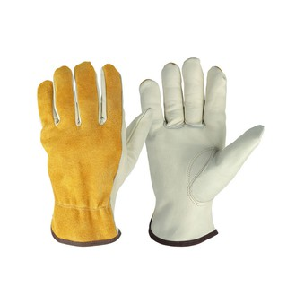 47af5415fc8fe ☆2pcs/Pack Work Gloves Cowhide Leather Men Working Welding Gloves Driver  Securit   Shopee Malaysia