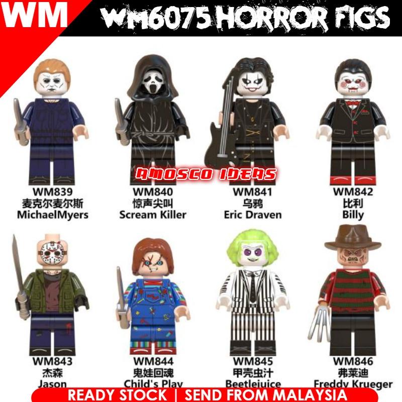 Child/'s Play Jason Freddy Jason Billy The Horror Movie Lego Moc Minifigure