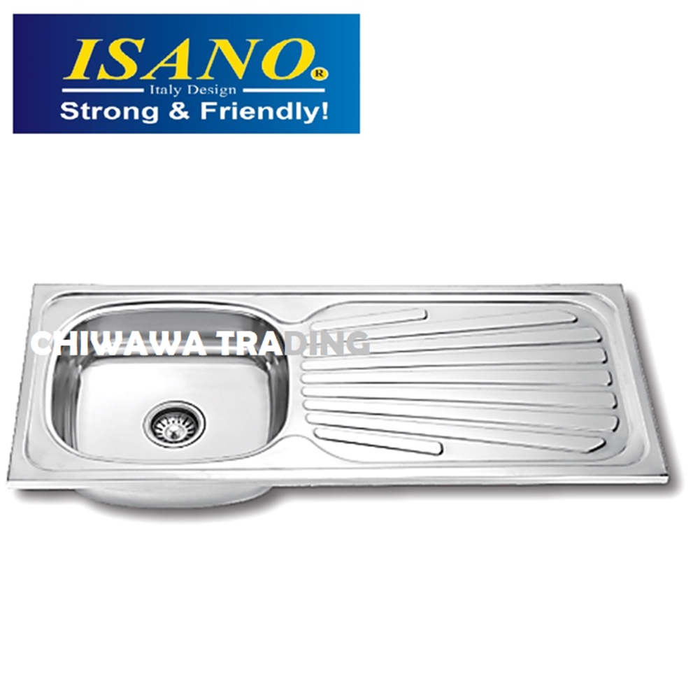 ISANO SS1842 Stainless Steel Kitchen Sink Bowl Basin Drainer
