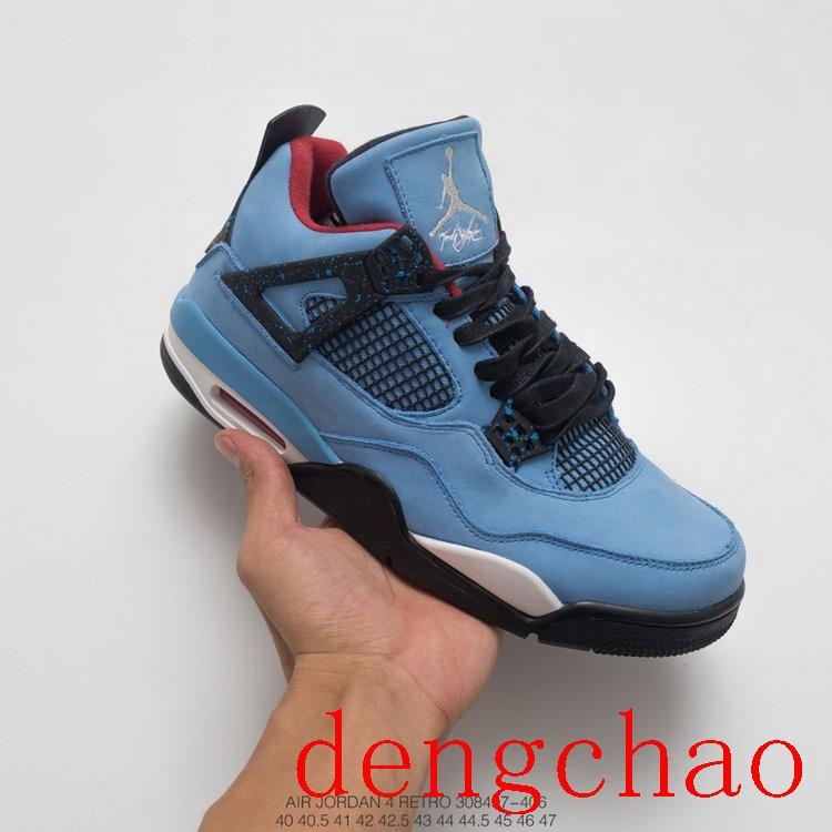 check out fbb20 ccc74 Nike Travis Scott x Air Jordan 4 Houston Oilers Men Sport Running  Shoes308497406
