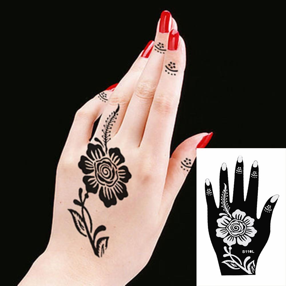 Henna Stencils Sticker Acuan Untuk Ukiran Inai Shopee Malaysia