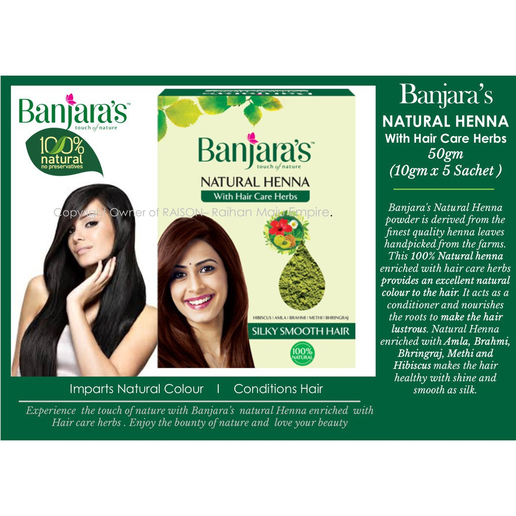 77b3d20b8 Banjara's Natural Henna Powder 100g | Shopee Malaysia