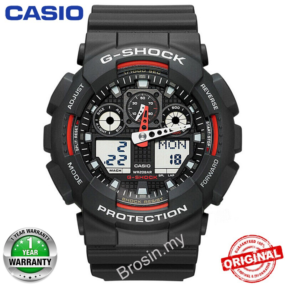d0d4059523dd 1000% original Casio G-Shock GA100 Watch Men Sport Watches Army Blue GA-100CM-8A