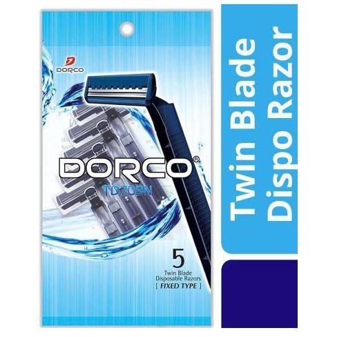 DORCO Razor Disposable Razor Twin Blade Disposable Razor TD708N 5PCS