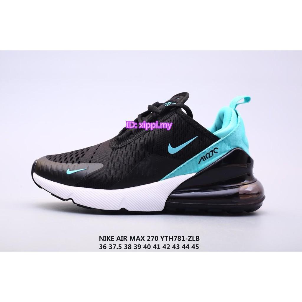 Nike Air Max 270 Jacquard net face half palm air cushion cushioning running shoes 【ID:xippi.my】