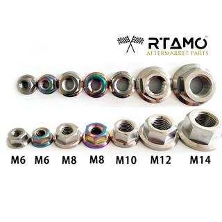RTAMOM6 M8 M10 Various Length Gr5 Titanium Hex Flange Spec Race Drilled Bolt