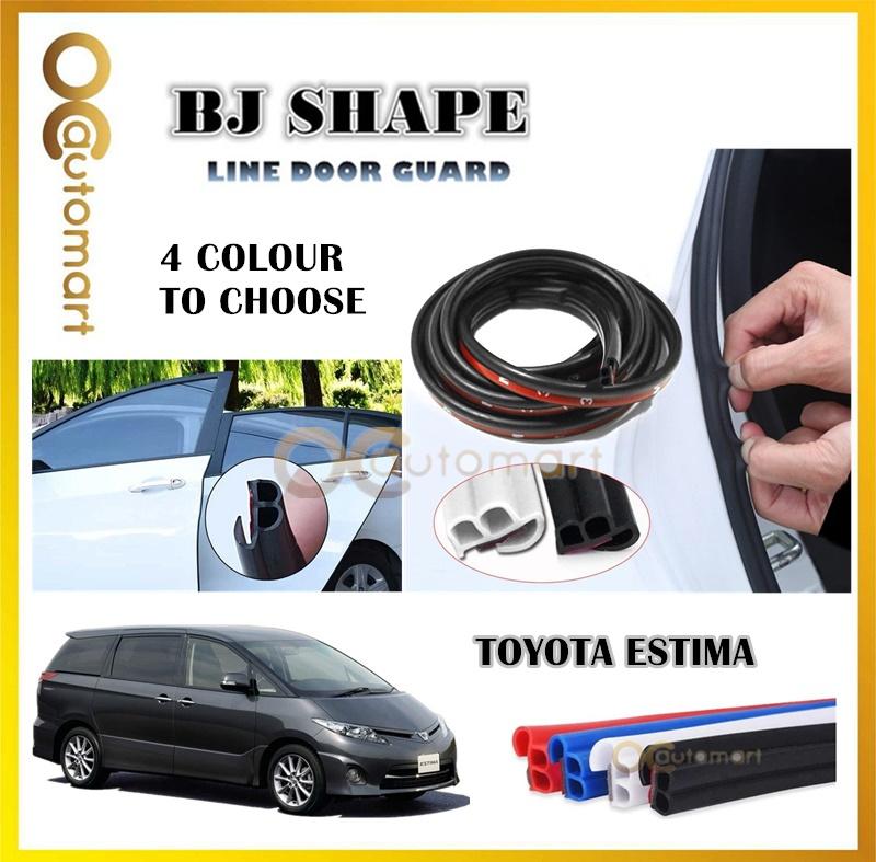 Toyota Estima (4 Door) 2 in 1 BJ Shape 16FT (5M) Car Door Guard Scratch Strip Rubber With Sound Insulation Tap