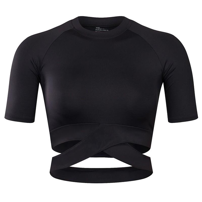 Womens Function Shirt Sports Shirt T-Shirt Breathable Quick Drying Black S