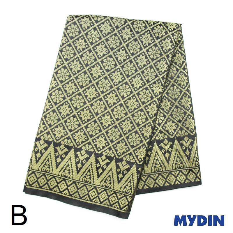 "Men Sampin - Gold on Black with Designs (2m X 32"") 0819SRLXBP01 - B #Raya"